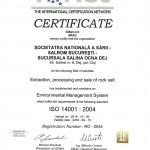 Cert ISO 14001-2005